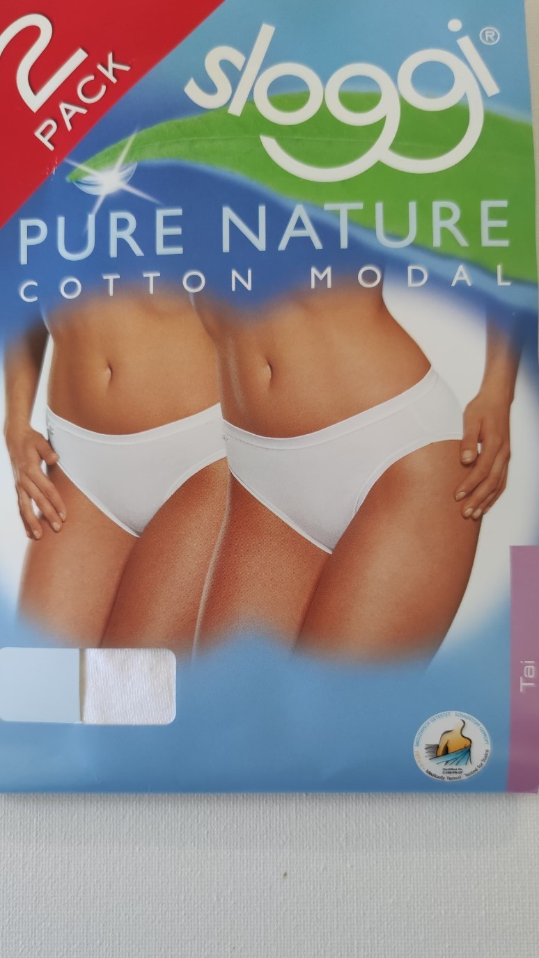 תחתון Sloggi Pure Nature TAI טאי כותנה מודל - 2 באריזה