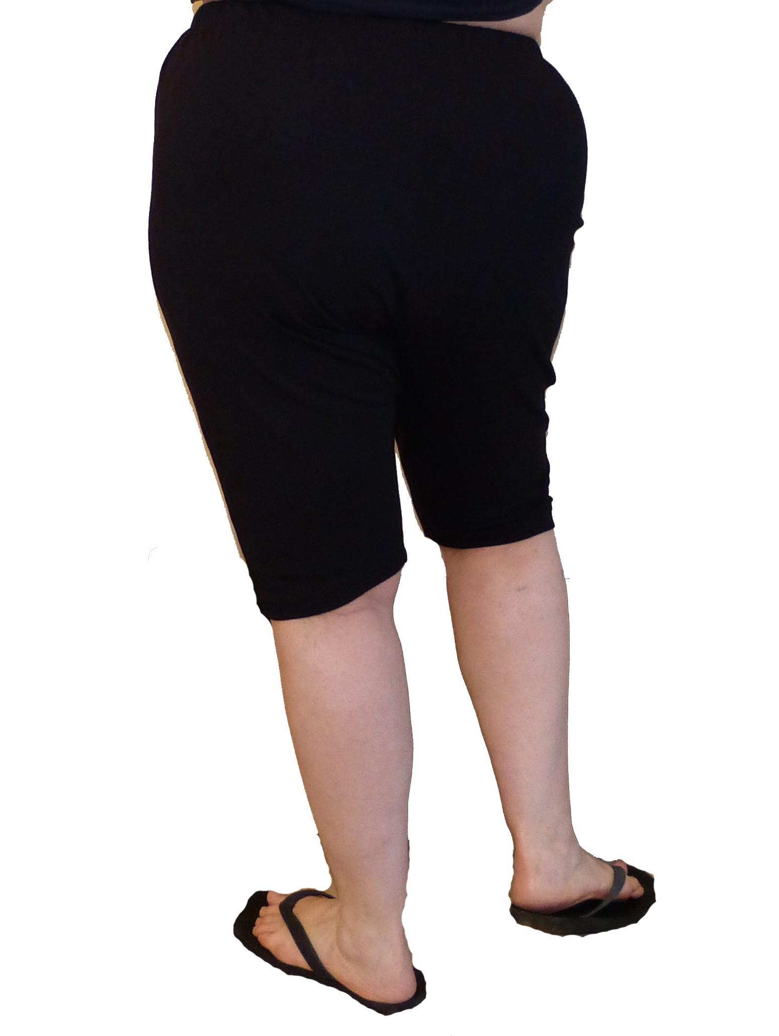 מכנס קצר כותנה עד מידות גדולות 1
