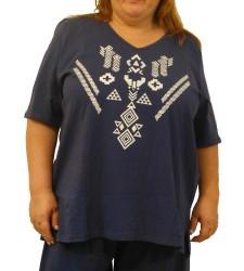 חולצה נוצות כותנה עד מידות גדולות