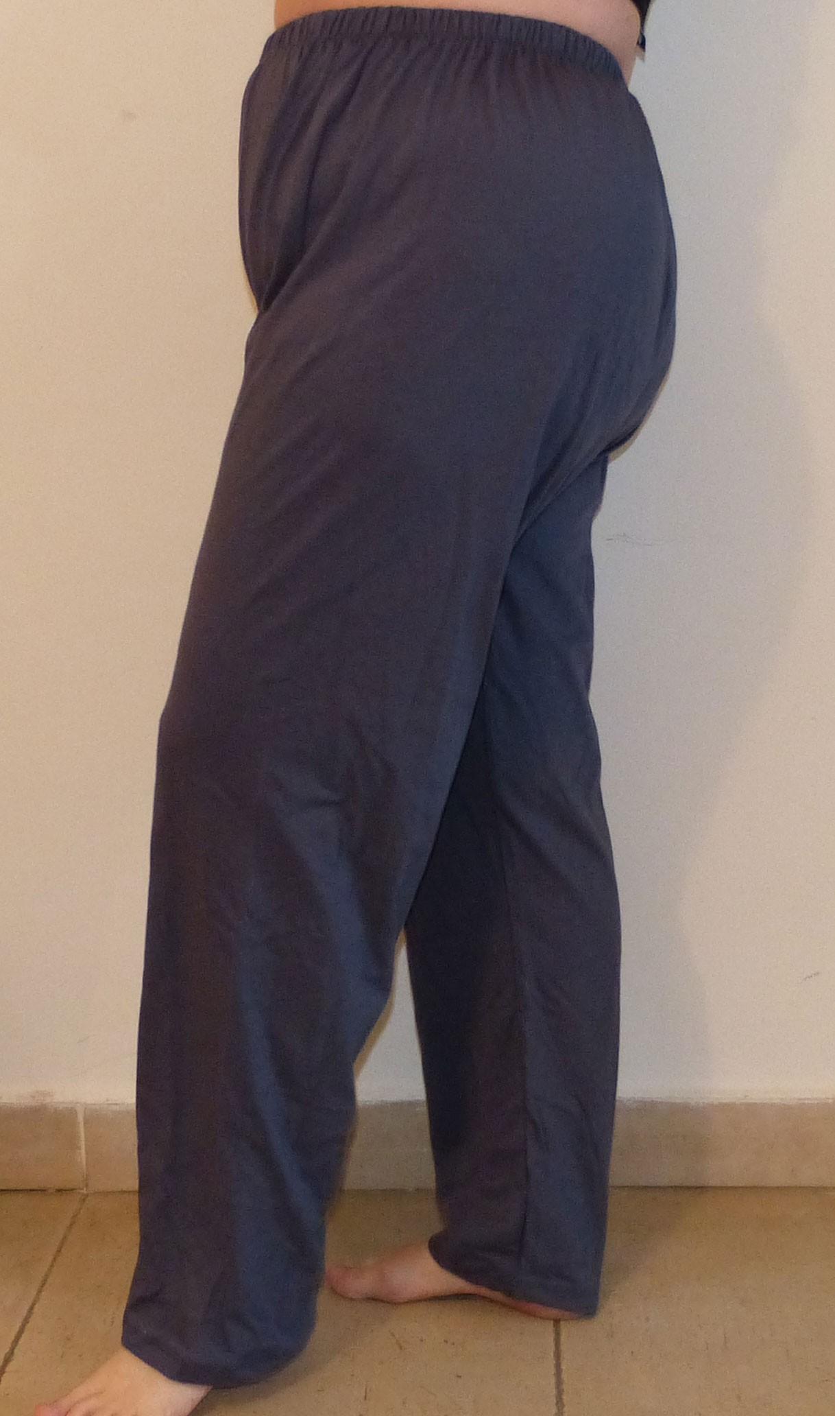 מכנס כותנה רחב ארוך מידות גדולות *