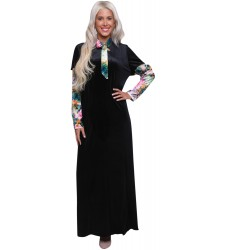 שמלת קטיפה כותנה W.E.L.L עם עניבה 3A279