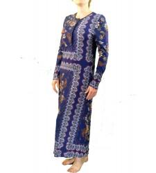 שמלת סריג צמודה פייזלי נייבי  2A254