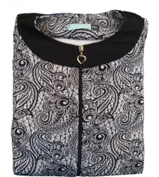 שמלת סריג מודפסת 1B269