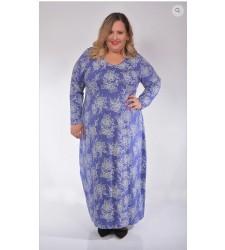 שמלת כותונת ארוכה יעל פרחים - מידות גדולות