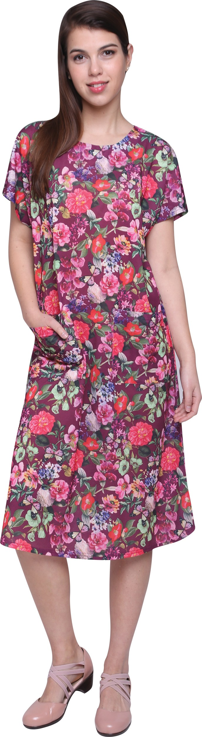 שמלת קימונו טריקו מודפסת 7/8 10D229