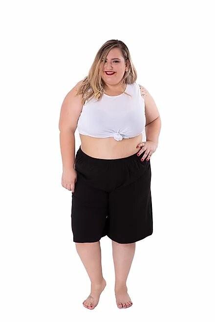 מכנס כותנה ברמודה מידות גדולות